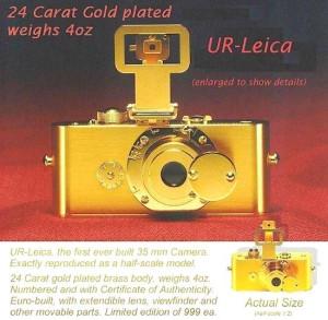 Ur Leica. Złota replika z 1993 roku.