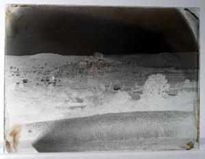 Ludwik Bickell, Widok Marburga, 1867r. Negatyw wykonany metodą mokrej płyt kolodionowej